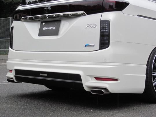 E52エルグランドEIKエアロパーツ専用マフラーカッター