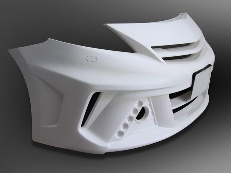 ケンスタイルプリウスα/アルファ用フロントバンパースポイラー/エアロパーツ
