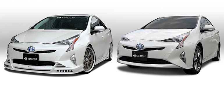 ケンスタイルエアロパーツ装着車とノーマル車の比較:フロント