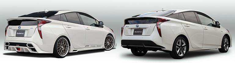 ケンスタイルエアロパーツ装着車とノーマル車の比較:リア