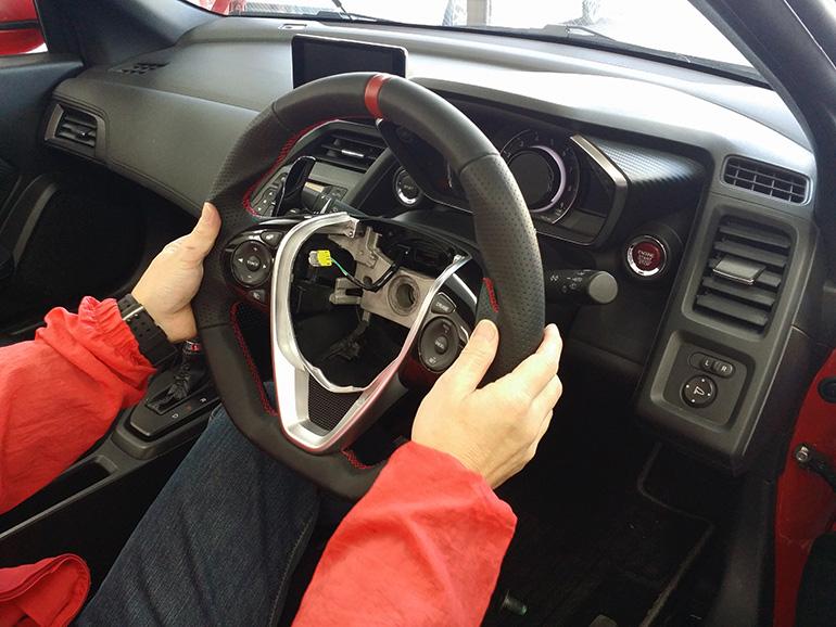 S660ケンスタイルオリジナルステアリング装着作業