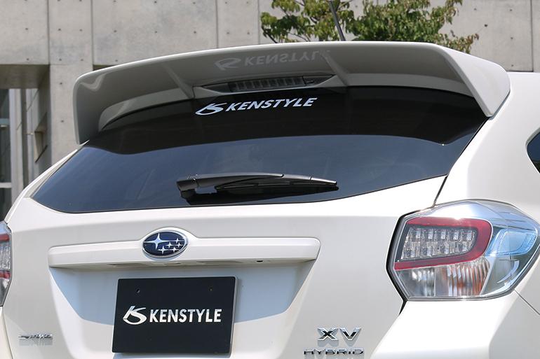 ケンスタイルGP系インプレッサスポーツ&XV用リアルーフスポイラー